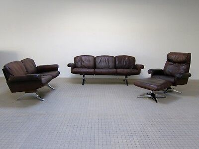 De Sede ds31 seating group 3+2 seater sofa + lounge chair and ottoman
