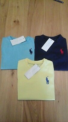 POLO RALPH LAUREN BABY BOY COTTON BIG PONY SHORT SLEEVE TEES  12-24 months BNWT