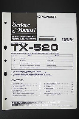 PIONEER TX-520 Service-Manual Circuit Descriptions Repair & Adjustments o105