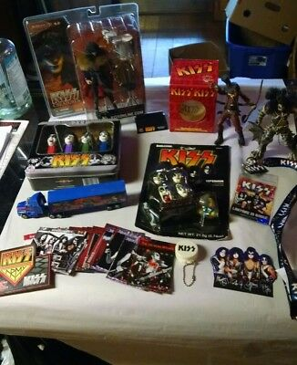 kiss band large lot of collectibles