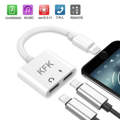 Headphone Adapter Splitter Dongle Compatible IP X 8 Plus Headset Audio Charging