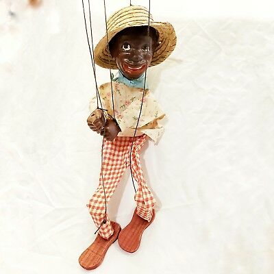 Vintage Black Americana - African American String Marionette Puppet | Prestine