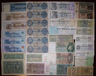 LOT OF 36 Germany banknotes