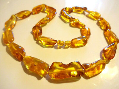 Genuine BALTIC HONEY  AMBER Necklace 23.6