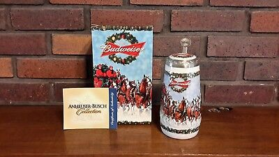 Budweiser 2009 CS-699SE A Holiday Tradition Lidded Stein