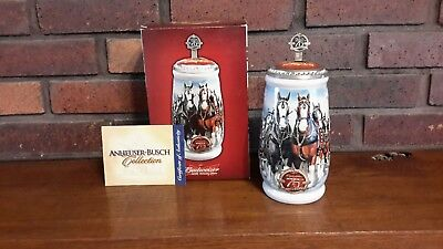 Budweiser 2008 CS-695SE 75 Years of Proud Tradition Holiday Lidded Stein