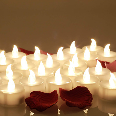 24pcs LED Candle Lights Battery Operated Flameless Tealight Decoration Lighting
