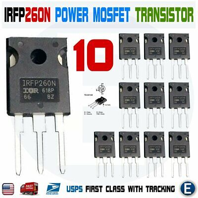 10pcs IRFP260N Power MOSFET IRFP260 N-Channel Transistor 50A 200V TO-247