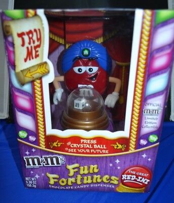 M&M's Fun Fortunes The Great Red-Ini Candy Dispenser Limited Edition NEW