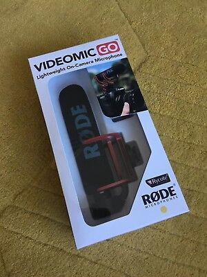 RØDE VideoMic Go on Camera Microphone - Black/Red USED ONCE