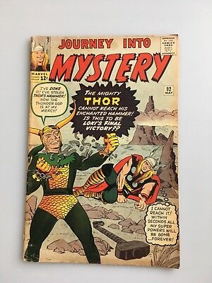 Journey Into Mystery #92 1963 Early Thor/Loki VG/FN