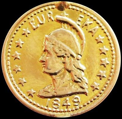 1849 Dated Gold California Eureka Token Harts Coins Of The West