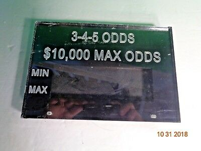Collectible Casino 3-4-5 Odds Craps Table Game Acrylic Sign