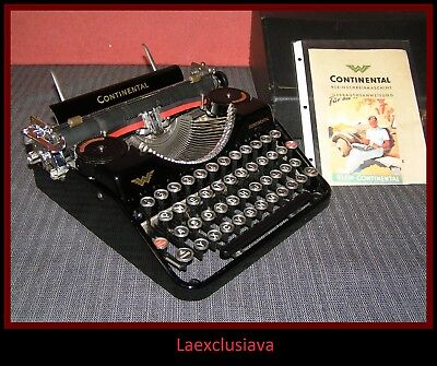 Awesome CONTINENTAL typewriter from 1929 (first model) ,.WORKING !(video inside)