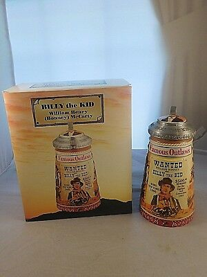 2003 Anheuser-Busch Famous Outlaws Series Stein Billy The Kid 367/15000