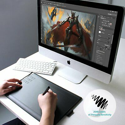 """Huion G10T Graphics Drawing Tablet 10X6.25""""USB Pen Tablet Wireless for Mac Wins"""