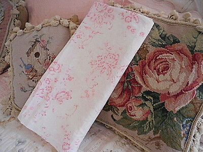 SIMPLY SHABBY Chic Shower Curtain Pink Wild Roses Floral On