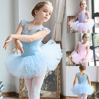 Fancy Ballerina Costume Princess Kid Girl Ballet Dancewear Swan Tutu Dance Dress