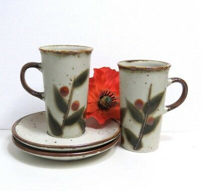 Otagiri Japan Vintage Stoneware Bittersweet Irish coffee Cup and Saucer Sets