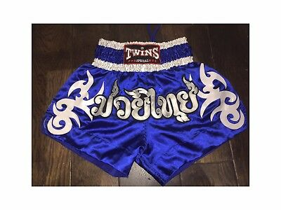 Twins Special Muay Thai Boxing Shorts Blue - Large