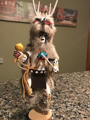 Deer Dancer Kachina Doll By D & M Nelson Antlers Fur Navajo