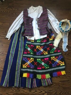 Lithuanian National Traditional Costume Complete Lithuania Linen Woven Wool Long