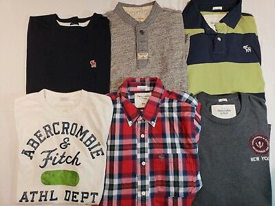 Very Nice Lot Of 9 Abercrombie & Fitch Mens Long/short  Sleeve Shirts Xxl