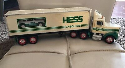 HESS Gasoline Tractor Trailer with Mini Car - 1992