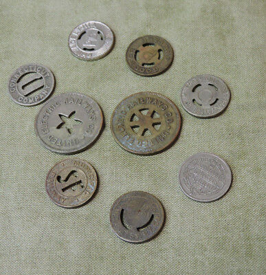 Lot of Transit Railway One Fare Tokens San Francisco Connectict Philadelphia IL