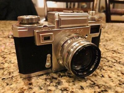 Zeiss Ikon Contax IIIa - beautiful vintage camera with lens and case
