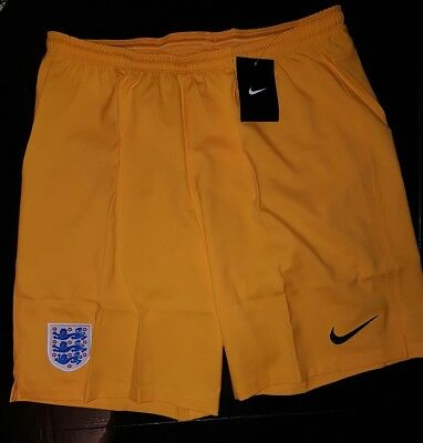 Men's Nike England yellow sport gym training Shorts Football Soccer beach size L