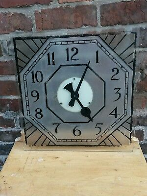 rare art deco cinema clock by internalite