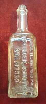 ANTIQUE EMBOSSED BOTTLE / ALCOHOLADO CEREIPINA / PONCE, PUERTO RICO 1930's