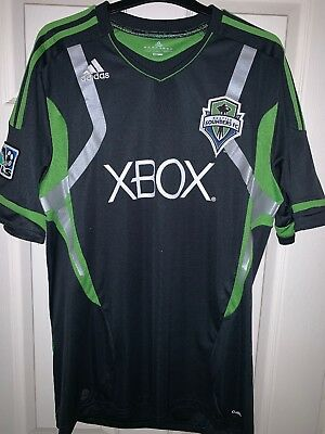 Adidas Seattle Sounders - Away Football Shirt Men's MLS Soccer Jersey L Large