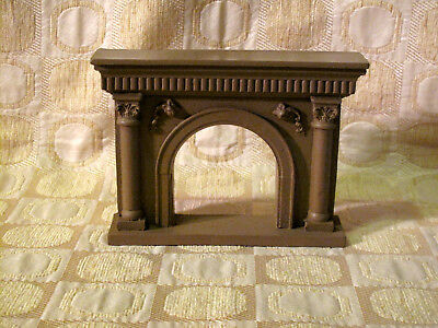 Vintage Dollhouse Miniature VICTORIAN MANTLE FIREPLACE Handcast New