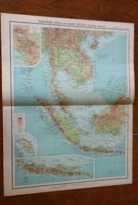 1923 Map Of Farther India & East Indies W Section Protestant Mission Stations
