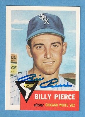 BILLY PIERCE Signed 1953 Topps Archives (1991) Card #141 - Autographed Auto