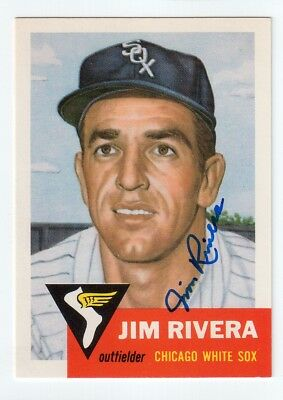 JIM RIVERA Signed 1953 Topps Archives (1991) Card Auto Autograph