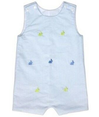 New NWT no smocked one piece outfit bunnies  baby boy summer 9M by Cukees
