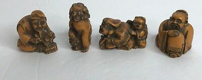 Asian Figurines Handcrafted Italy🇮🇹Action Cheswick PA 1950 Vintage Collectible