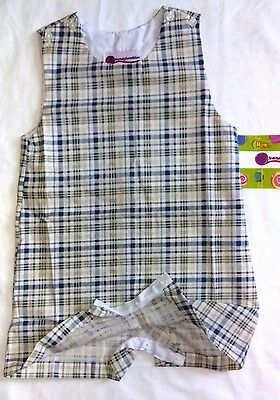New NWT not smocked plaid Ginghan Overall baby Boy  monogram 3T by Kandyland
