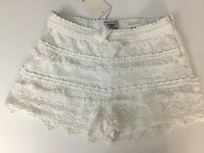 Mayoral Girls White Lace Shorts Age 16 Years BRAND NEW WITH TAGS RRP£27