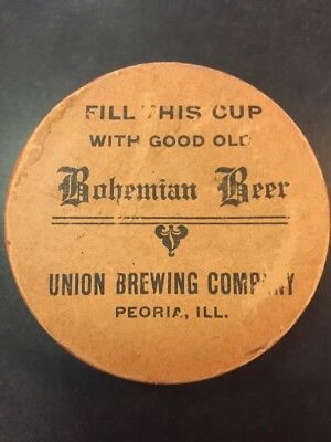 Union Brewing Company Peoria Il. collapsible cup advertising beer gipps leisy