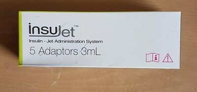 InsuJet 3ml adapters for needle-free insulin injection system x 5