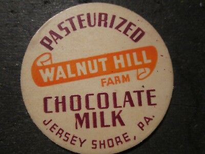 Milk Bottle Cap Walnut Hill Farm Dairy Jersey Shore Pa