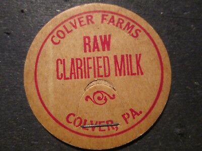 Milk Bottle Cap Colver Farms Dairy Colver Pa