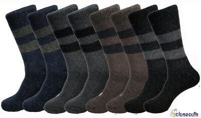 4 Pack Mens Heavy Duty Warm Winter Work Boots Wool Socks Crew Thermal Size 10-15