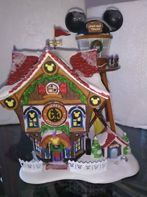 Department 56 Disney Showcase Mickey's Holiday House North Pole Series 2003