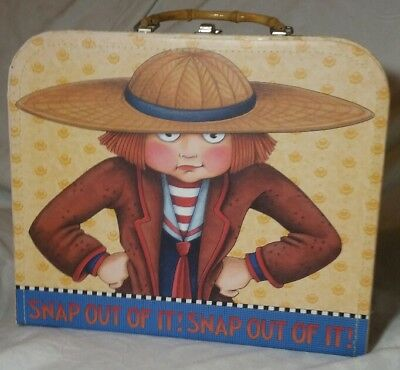 MARY ENGELBREIT Snap out of it! Snap out of it! Storage box Bamboo Handle