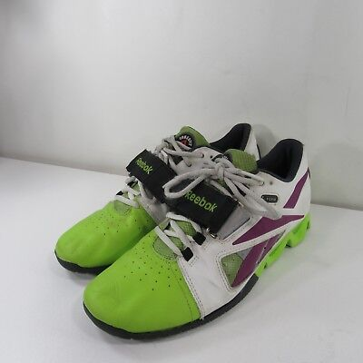more photos fb28c 685d5 REEBOK Womens CROSSFIT LIFTER OLY U-FORM Training Shoes-green Purple Size 8